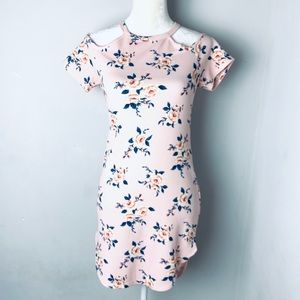 Iris by papaya floral stretch bodycon dress medium